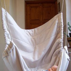 Hinta XXL, 0-99 éves korig, 230 kg-t is bír, felnőttnek is, egyedi, kézműves termék, beltérre, Játék & Gyerek, Hinta & Kerti játék, Nagyméretű hinta, fotelhinta, akár két felnőttnek is.  Többrétegű erős szövet, köztük vastag, puha k..., Meska