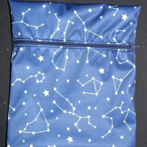 Csillagképes PUL tasak, Táska & Tok, Varrás, PUL vízzáró tasak mosható női betétek, vagy bármi egyéb tárolásához. 40 fokon mosható.\n\nMérete: 15 x..., Meska