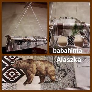 Babahinta - Alaszka (medve) minta RUGÓVAL, Hinta & Kerti játék, Játék & Gyerek, Varrás, Csomózás, A megjelölt mintával kapható babahinta. \n\nÚjszülöttől 25 kg-os korig használható, fekve és ülve is. ..., Meska