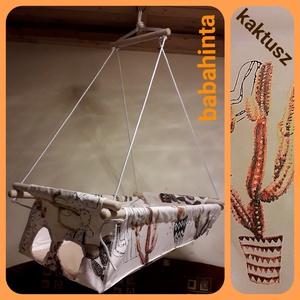 Babahinta - kaktusz RUGÓVAL, Hinta & Kerti játék, Játék & Gyerek, Varrás, Csomózás, A megjelölt mintával kapható babahinta. \n\nÚjszülöttől 25 kg-os korig használható, fekve és ülve is. ..., Meska