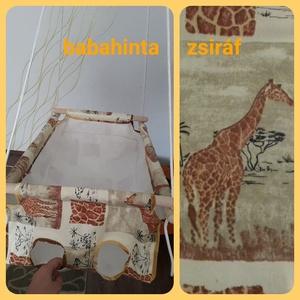 Babahinta - zsiráf minta RUGÓVAL, Hinta & Kerti játék, Játék & Gyerek, Varrás, Csomózás, A megjelölt mintával kapható babahinta. \n\nÚjszülöttől 25 kg-os korig használható, fekve és ülve is. ..., Meska