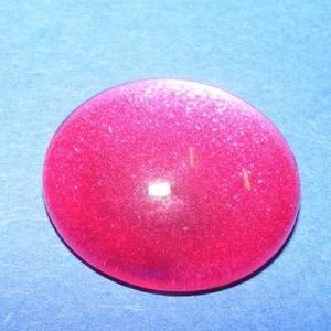 Macskaszem-7 (? 20 mm/1 db) - kerek, pink, Gyöngy, ékszerkellék, Cabochon,  Macskaszem-7 - pink - kör  Méret: ? 20 mm  Használható a termékeim között található gyűrű és ..., Meska
