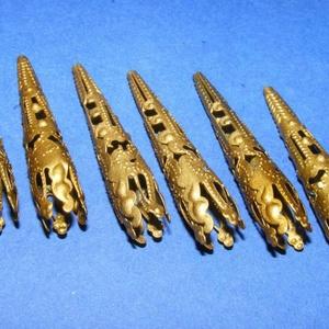Gyöngykupak (38. minta/2 db) - 40 mm - gyöngy, ékszerkellék - egyéb alkatrész - Meska.hu