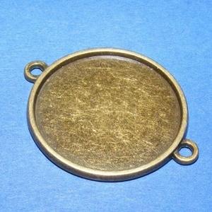Medál alap (193. minta/1 db), Gyöngy, ékszerkellék,  Kombinált, öntött medál alap (193. minta) - kerek - antik bronz színben  Az alkatrészből medált és ..., Meska