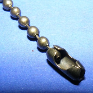 Golyóslánc kapocs (332/A minta/1 db) - 2-2,4 mm (csimbo) - Meska.hu