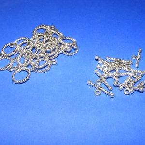 T-kapocs (336/J minta/1 db) - antik ezüst - gyöngy, ékszerkellék - Meska.hu