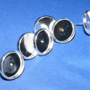 Fülbevaló alap (254/E minta/2 db), Gyöngy, ékszerkellék, Ékszerkészítés, \nFülbevaló alap (254/E minta) - stiftes - platinum színben\n\nMérete: 10 mm (a belméret: 8 mm); a tüsk..., Meska