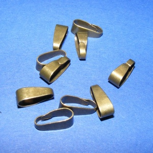 Medálvezető (356/B minta/1 db), Gyöngy, ékszerkellék,  Medálvezető (356/B minta) - antik bronz színben  Mérete: 11x4 mm (felül)  Az ár egy darab medálveze..., Meska