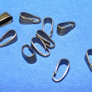 Medálvezető (356/D minta/1 db), Gyöngy, ékszerkellék,  Medálvezető (356/D minta) - antik bronz színben  Mérete: 7x3 mm Az ár 1 db medálvezetőre vonatkozi..., Meska