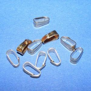 Medálvezető (356/E minta/1 db), Gyöngy, ékszerkellék, Ékszerkészítés,  Medálvezető (356/E minta) - arany színben  Mérete: 7x2 mm (felül); 2 mm (alul) Az ár 1 db medálve..., Alkotók boltja