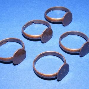 Gyűrű alap (35. minta/1 db) - gyöngy, ékszerkellék - Meska.hu