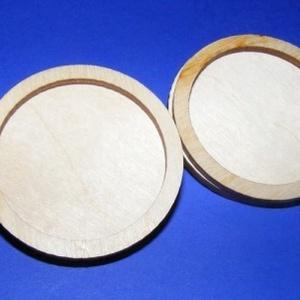 Kitűző alap (408. minta/1 db) , Gyöngy, ékszerkellék,  Kitűző alap (408. minta) - natúr fa   Mérete: 48x3 mmA gyűrű belső mérete: 40 mm A kitűző alaphoz ..., Meska
