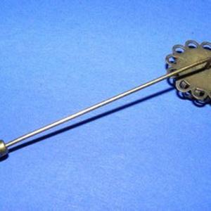 Kitűző alap (415. minta/1 db) - brosstű - gyöngy, ékszerkellék - Meska.hu