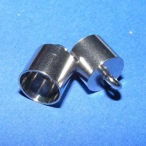 Nemesacél bőrvég (STAS-5 minta/1 db) - 13x9 mm (csimbo) - Meska.hu