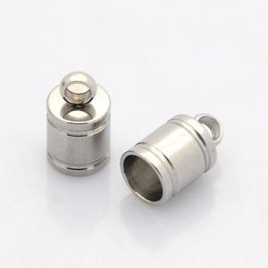 Nemesacél bőrvég (STAS-8 minta/1 db) - 10x6 mm - Meska.hu