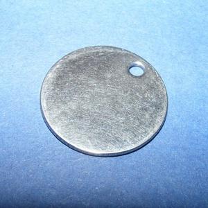 Nemesacél medál (STAS-32 minta) - ? 10x1 mm - Meska.hu