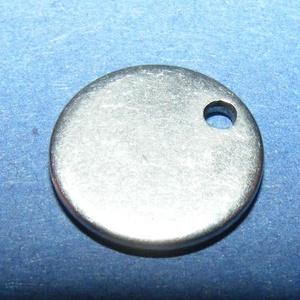 Nemesacél medál (STAS-34 minta/1 db) - ? 20x1 mm (csimbo) - Meska.hu