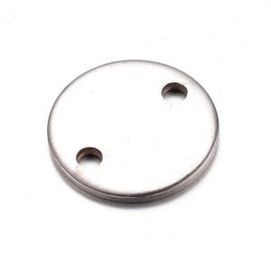 Nemesacél medál (STAS-34/A minta/1 db) - ? 10x0,8 mm, Gyöngy, ékszerkellék, Ékszerkészítés, \nNemesacél medál (STAS-34/A minta) - kerekNemesacél (304 Stainless Steel) termék\n\nMérete: ? 10 mmA f..., Meska