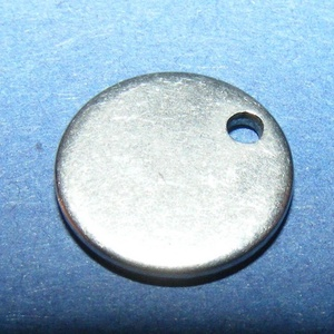 Nemesacél medál (STAS-33 minta) - ? 13x1 mm - Meska.hu
