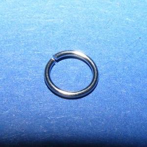 Nemesacél szerelőkarika (STAS-24 minta/10 db) - 7x0,6 mm (csimbo) - Meska.hu