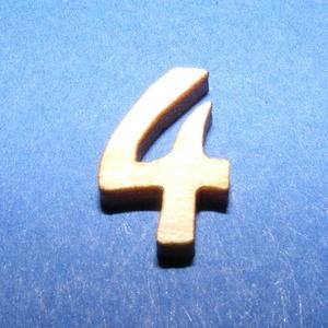Rusztikus fa szám (15x10 mm) - 4, Fa,  Rusztikus fa szám - 4    Mérete: 15x10 mmAnyaga: rétegelt lemezAnyagvastagság: 3 mm Az ár egy ter..., Meska
