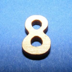 Rusztikus fa szám (15x10 mm) - 8, Fa,  Rusztikus fa szám - 8    Mérete: 15x10 mmAnyaga: rétegelt lemezAnyagvastagság: 3 mm Az ár egy ter..., Meska