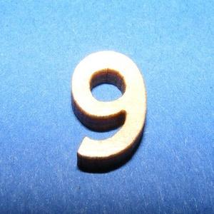 Rusztikus fa szám (15x10 mm) - 9, Fa,  Rusztikus fa szám - 9    Mérete: 15x10 mmAnyaga: rétegelt lemezAnyagvastagság: 3 mm Az ár egy ter..., Meska