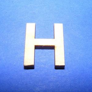 Fa betű (20x15 mm) - H, Fa,  Fa betű - H    Mérete: 20x15 mmAnyaga: natúr rétegelt lemezAnyagvastagság: 3 mm Az ár egy darab t..., Meska
