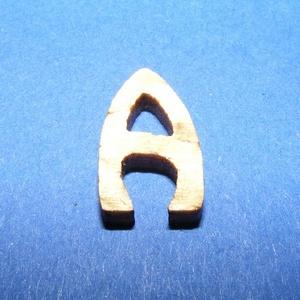 Rusztikus fa betű (20x15 mm) - A, Fa, Famegmunkálás, Egyéb fa, \nRusztikus fa betű - A\n\r\n\r\n\nMérete: 20x15 mmAnyaga: rétegelt lemezAnyagvastagság: 3 mm\n\nAz ár egy te..., Meska