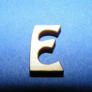 Rusztikus fa betű (20x15 mm) - E, Fa, Famegmunkálás, Egyéb fa, \nRusztikus fa betű - E\n\r\n\r\n\nMérete: 20x15 mmAnyaga: rétegelt lemezAnyagvastagság: 3 mm\nAz ár egy ter..., Meska