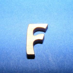 Rusztikus fa betű (20x15 mm) - F, Fa,  Rusztikus fa betű - F    Mérete: 20x15 mmAnyaga: rétegelt lemezAnyagvastagság: 3 mm Az ár egy ter..., Meska