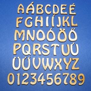 Rusztikus fa betű (20x15 mm) - N - Meska.hu