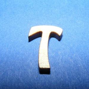 Rusztikus fa betű (20x15 mm) - T - fa - Meska.hu