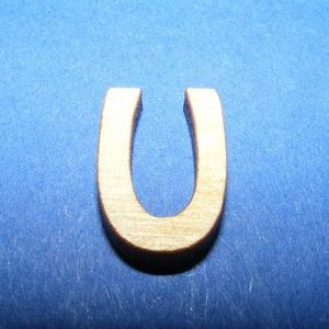 Rusztikus fa betű (20x15 mm) - U, Fa, Famegmunkálás, Egyéb fa, \nRusztikus fa betű - U\n\r\n\r\n\nMérete: 20x15 mmAnyaga: rétegelt lemezAnyagvastagság: 3 mm\nAz ár egy ter..., Meska
