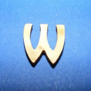 Rusztikus fa betű (20x15 mm) - W, Fa, Famegmunkálás, Egyéb fa, \nRusztikus fa betű - W\n\r\n\r\n\nMérete: 20x15 mmAnyaga: rétegelt lemezAnyagvastagság: 3 mm\nAz ár egy ter..., Meska