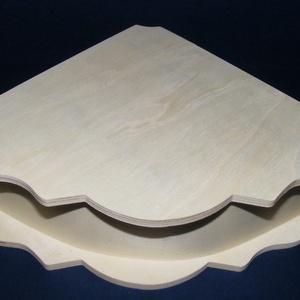 Fadoboz (20,5x20,5 cm/1 db) - sarok forma, Fa,  Fadoboz - sarok forma  Mérete: 20x20x7,5 cmAnyaga: natúr fa, nem pácolt, nem festett  Az ár egy dar..., Meska