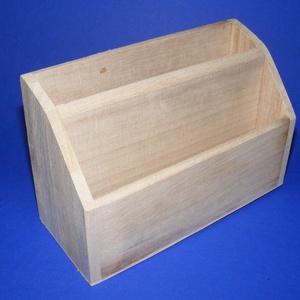 """Mindent bele tartó (kicsi/1 db), Fa,  """"Mindent bele"""" fa tároló - kicsi - 2 fakkos    Mérete: 18x8x11,5 cm (elöl 6,5 cm)Anyaga: natúr fa..., Meska"""