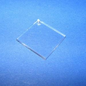 Akril medál alap-13 (20x20 mm/1 db) - négyzet - fúrt, Díszíthető tárgyak, Műanyag, Mindenmás, \nAkril medál alap-13 - négyzet - fúrtMérete: 20x20x2 mm\n\nAz anyag víztiszta (mindkét oldala védőfóli..., Meska
