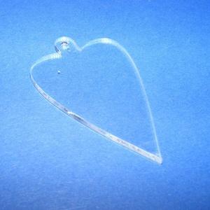 Akril medál alap-19 (50x30 mm/1 db) - szív - akasztós - íves, Díszíthető tárgyak, Műanyag, Mindenmás, \nAkril medál alap-19 - szív - akasztós - íves\n\nMérete: 50x30x2 mm\n\nAz anyag víztiszta (mindkét oldal..., Meska