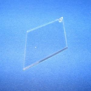 Akril medál alap-21 (55x30 mm/1 db) - rombusz - fúrt, Díszíthető tárgyak, Műanyag, Mindenmás, \nAkril medál alap-21 - rombusz - fúrt\n\nMérete: 55x30x2 mm\n\nAz anyag víztiszta (mindkét oldala védőfó..., Meska