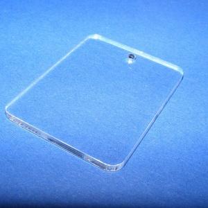 Akril medál alap-8 (40x30 mm/1 db) - téglalap - fúrt - álló (csimbo) - Meska.hu