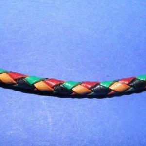 Fonott bőrszíj - 2,5 mm (19. minta/0,5 m) - vegyes színű - Meska.hu
