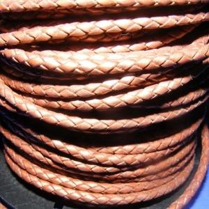 Fonott bőrszíj - 2,5 mm (4. minta/0,5 m) - bronz (csimbo) - Meska.hu