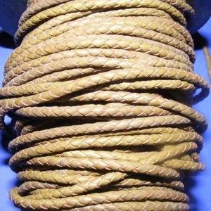 Fonott bőrszíj - 2,5 mm (8. minta/0,5 m) - khaki, Vegyes alapanyag, Egyéb alapanyag, Bőrművesség, \nFonott bőrszíj (8. minta) - khakiValódi bőr alapanyagból készült fonott, hengeres szíj.Átmérője: 2,..., Meska