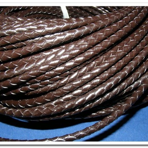 Fonott bőrszíj - 5 mm (1. minta/0,5 m) - sötétbarna - Meska.hu