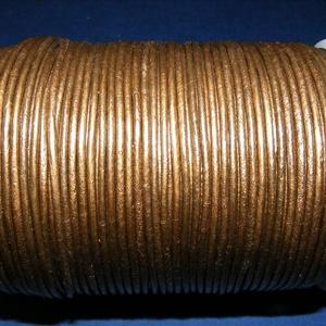 Hasított bőrszíj - 2 mm (14. minta/1 m) - bronz (metál) (csimbo) - Meska.hu