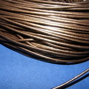 Hasított bőrszíj - 2 mm (4. minta/1 m) - metál bronz (csimbo) - Meska.hu