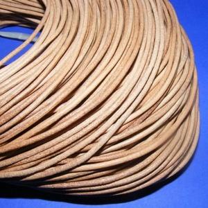 Hasított bőrszíj - 2 mm (6. minta/1 m) -  natúr  (csimbo) - Meska.hu