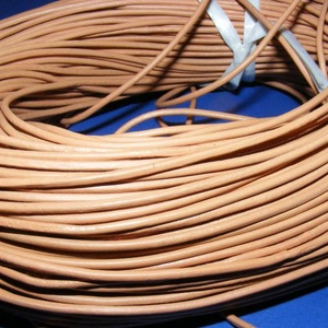 Hasított bőrszíj - 2 mm (7. minta/1 m) - világosbarna (csimbo) - Meska.hu