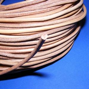 Hasított bőrszíj - 4 mm (2. minta/1 m) - natúr (csimbo) - Meska.hu